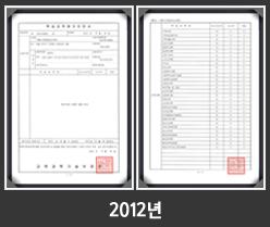 2012년학습과목평가인정획득