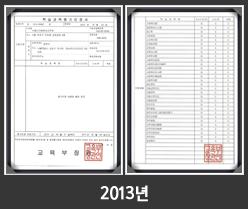 2013년학습과목평가인정획득